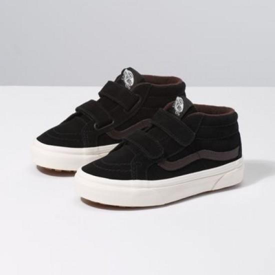 Vans Kids Shoes Kids Sk8-Mid Reissue V MTE Black/Chocolate Torte