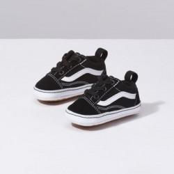 Vans Kids Shoes Infant Old Skool Crib Black True White