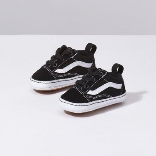 Vans Kids Shoes Infant Old Skool Crib Black True White
