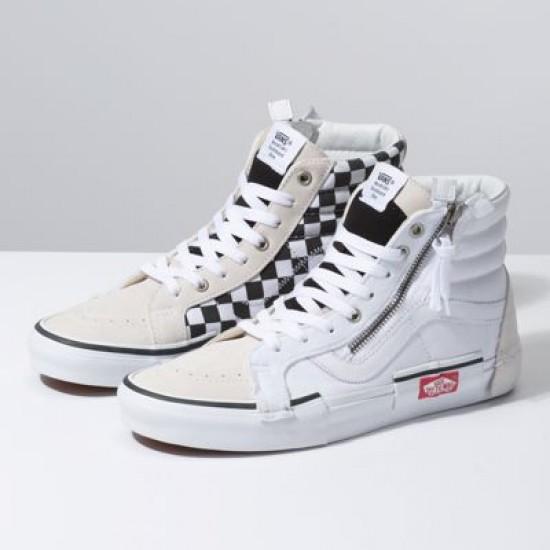 Vans Men Shoes Checkerboard Sk8-Hi Reissue Cap True White/Black