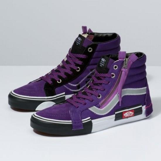 Vans Women Shoes Reflective Sk8-Hi Reissue CAP Violet Indigo/Black