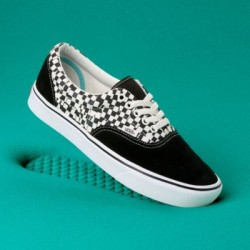 Vans Men Shoes Comfycush Tear Check Era Black/True White