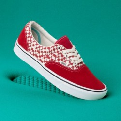 Vans Men Shoes ComfyCush Tear Check Era Racing Red/True White
