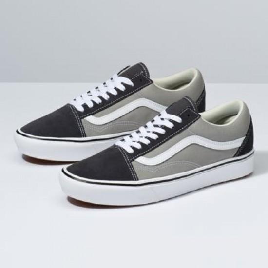 Vans Men Shoes ComfyCush Suede & Canvas Old Skool Asphalt/Drizzle