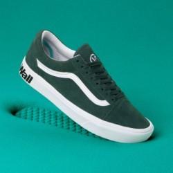 Vans Women Shoes ComfyCush Distort Old Skool Trekking Green/True White