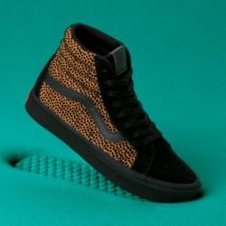Vans Women Shoes ComfyCush Tiny Cheetah Sk8-Hi Reissue Black