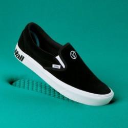 Vans Women Shoes ComfyCush Distort Slip-On Black/True White