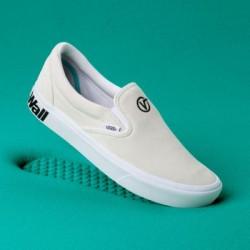 Vans Women Shoes ComfyCush Distort Slip-On Blanc/Black