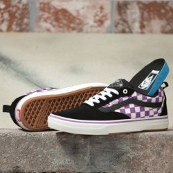 Vans Women Shoes Checkerboard Kyle Walker Pro Black/Dewberry