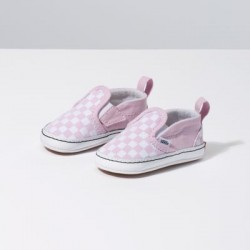 Vans Kids Shoes Infant Checkerboard Slip-On V Crib Lilac Snow/True White