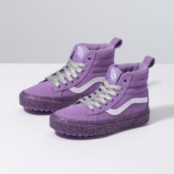 Vans Kids Shoes Kids Sk8-Hi MTE Glitter Sidewall/Fairy Wren