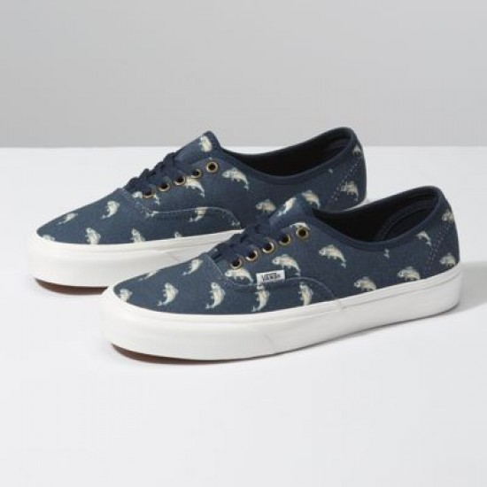 Vans Men Shoes Outdoors Authentic Dress Blues/Fish