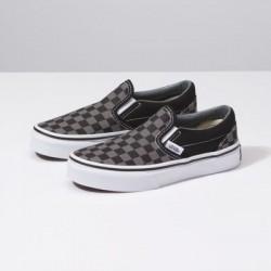 Vans Kids Shoes Kids Checkerboard Slip-On Black/Pewter