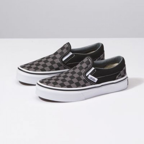 Vans Kids Shoes Kids Checkerboard Slip-On Black/Pewter