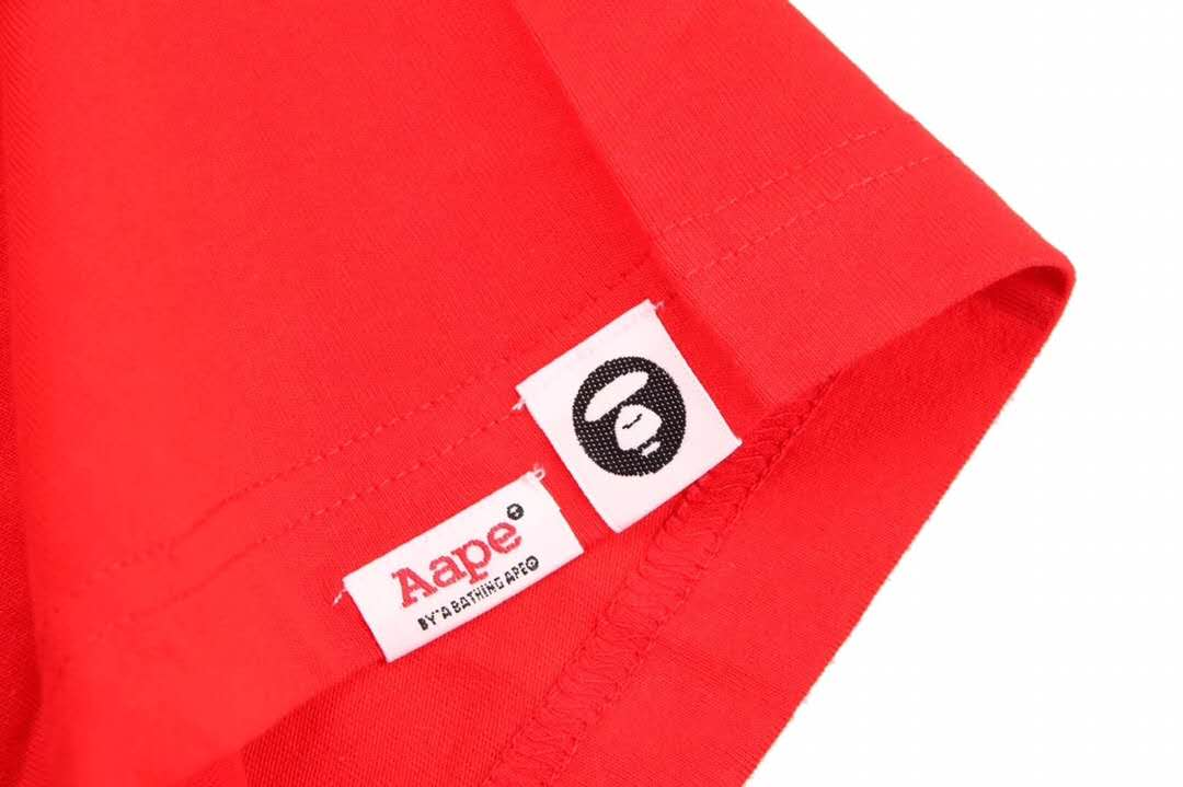 Aape 19ss Ape Head Print T-Shirt Red
