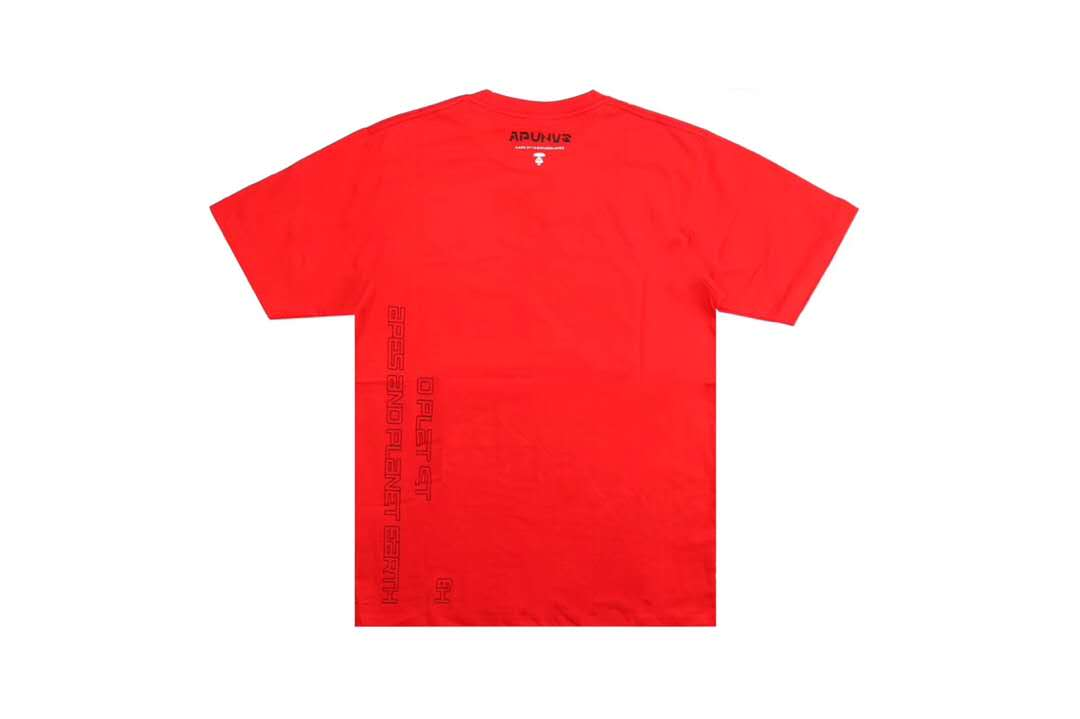 Aape 19ss Ape Head Print Tee Red