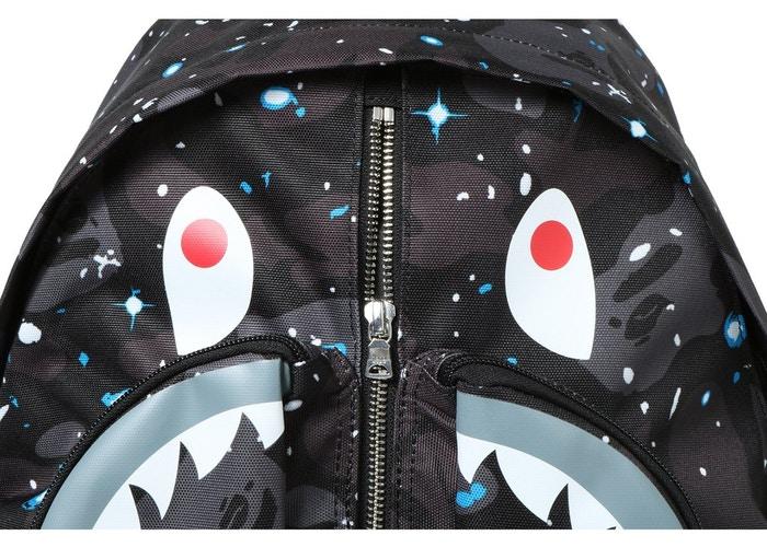 BAPE 1st Camo Shark Day Pack Black