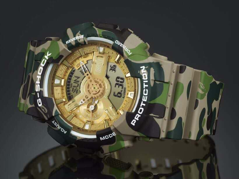 Casio G-Shock × BAPE GA-110 Watch
