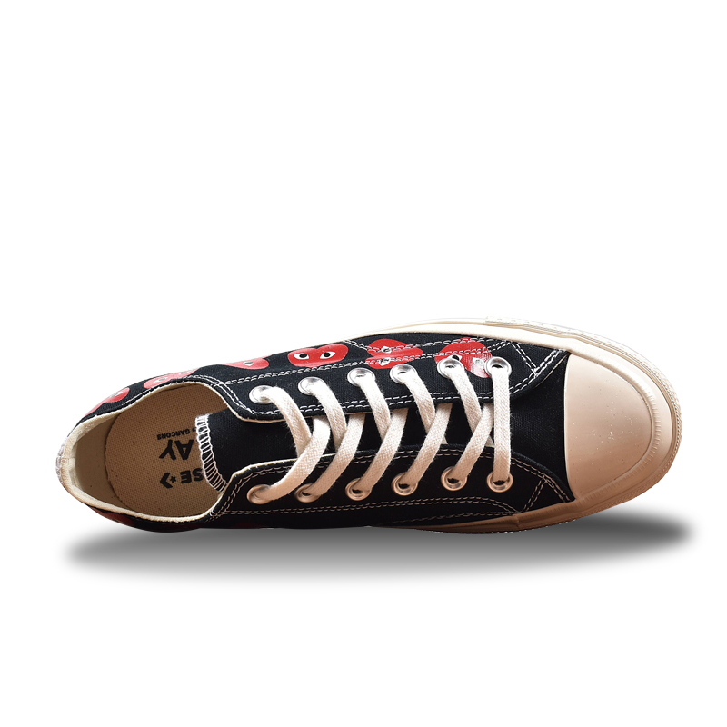 Converse CDG X Chuck Taylor For Low Top Skateboarding Shoes ( Unisex )