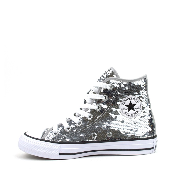 silver converse mens