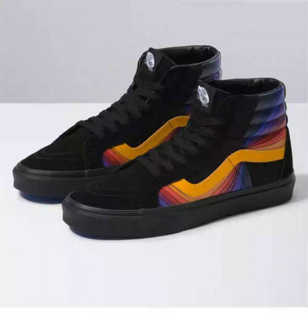Vans Men Shoes Checkerboard Sk8-Hi Reissue Cap Black/Black