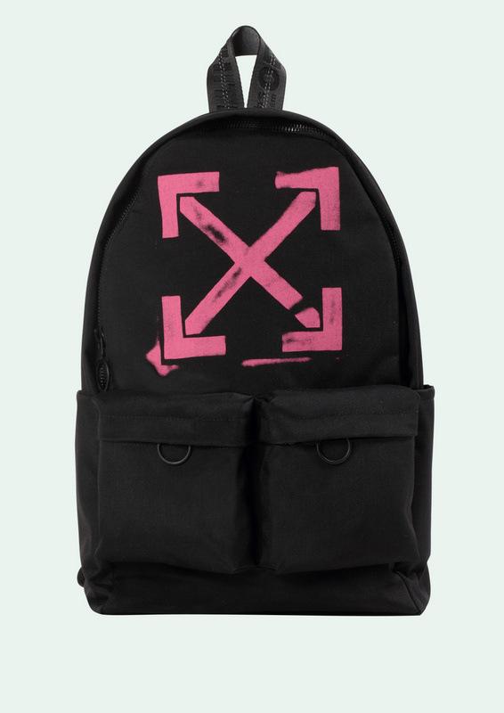 off white logo backpack