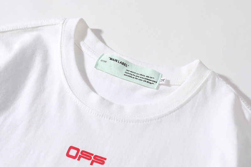 off white loose t shirt