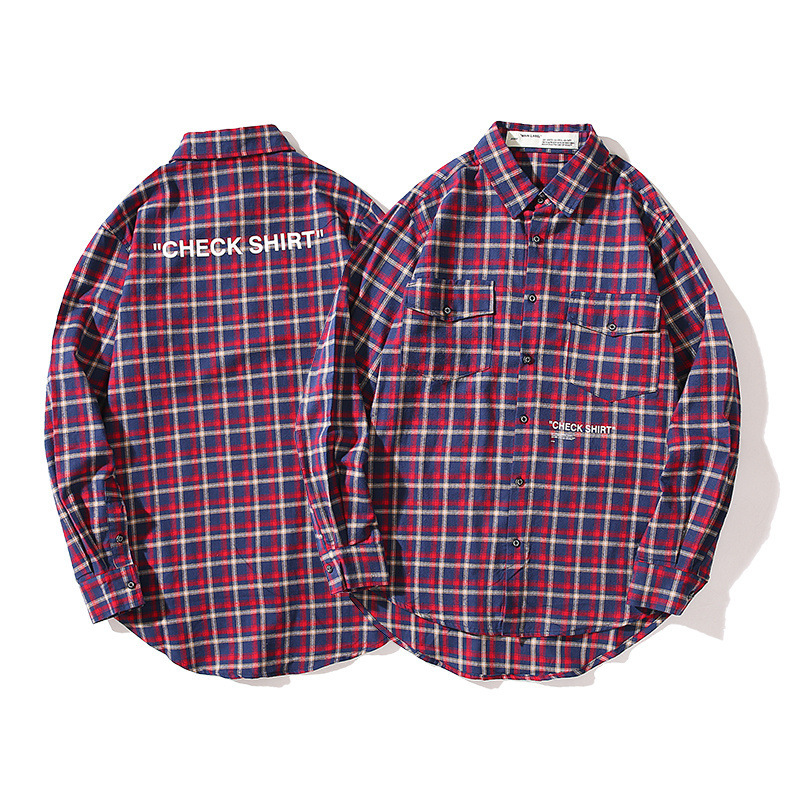 off white men lattice shirt