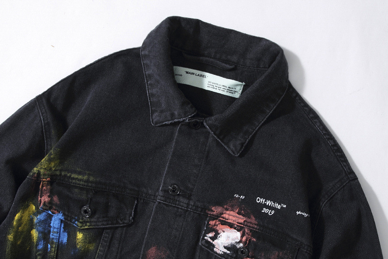 off white graffiti jacket black