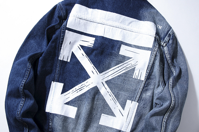 off white denm jacket blue