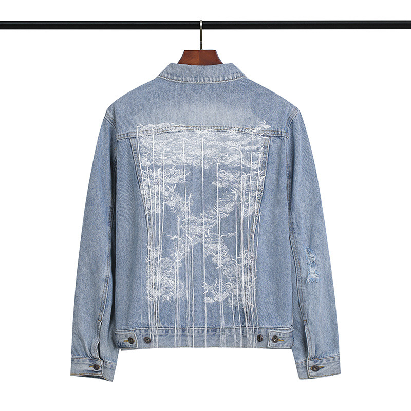 off white embroidery jacket