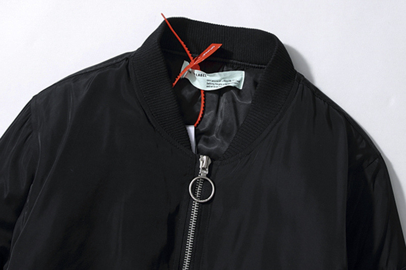 2020 Autumn Winter OFF-WHITE Air Force Men Jacket Black