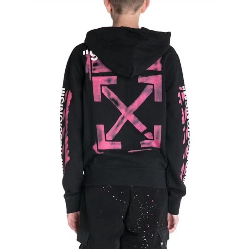 Off-White Mens Black Hoodie