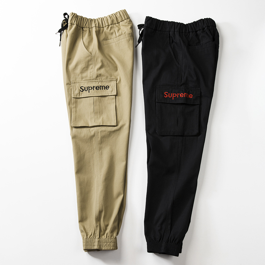 supreme black cargo pants