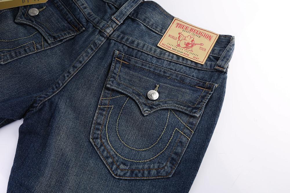 True Religion Men's Jeans Shorts Back Pocket
