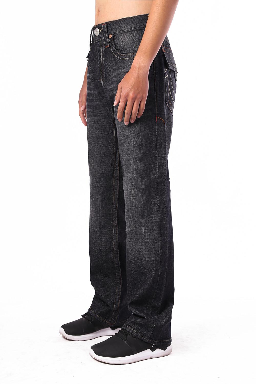 True Religion Mens Jeans Straight Black Side