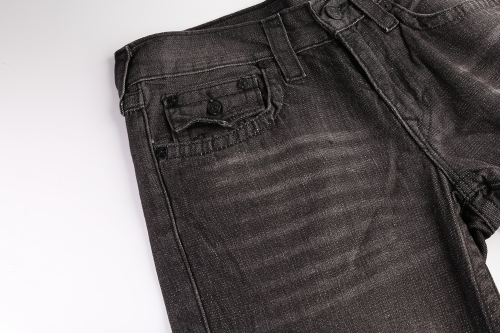 True Religion Mens Jeans Black back pocket