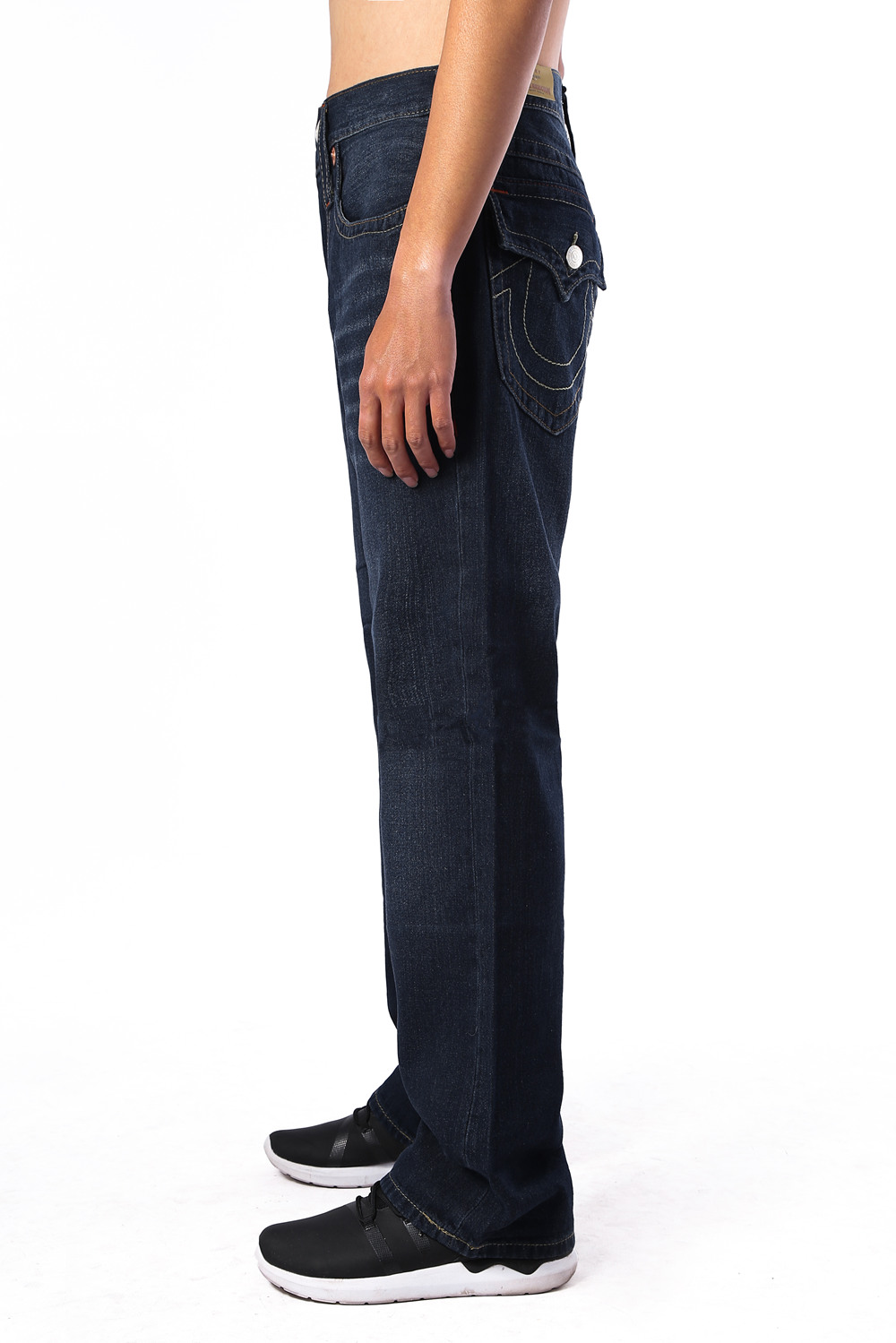 Navy True Religion Mens Jeans Side