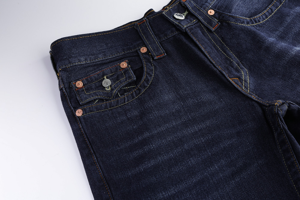 Navy True Religion Mens Jeans Poacket