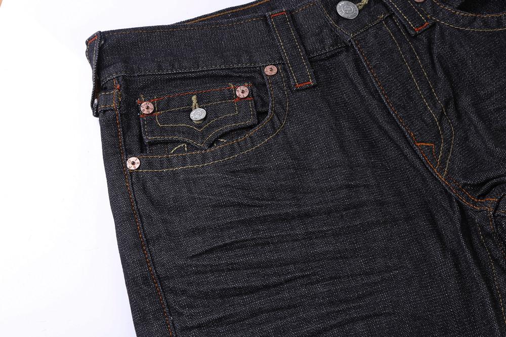 Black Slim True Religion Men's Jeans Pocket