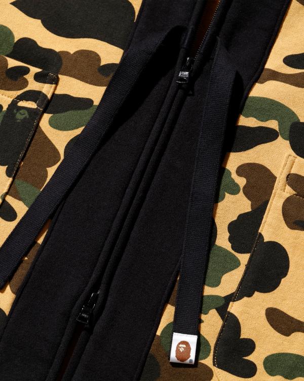 1st Camo kimono zip hoodie
