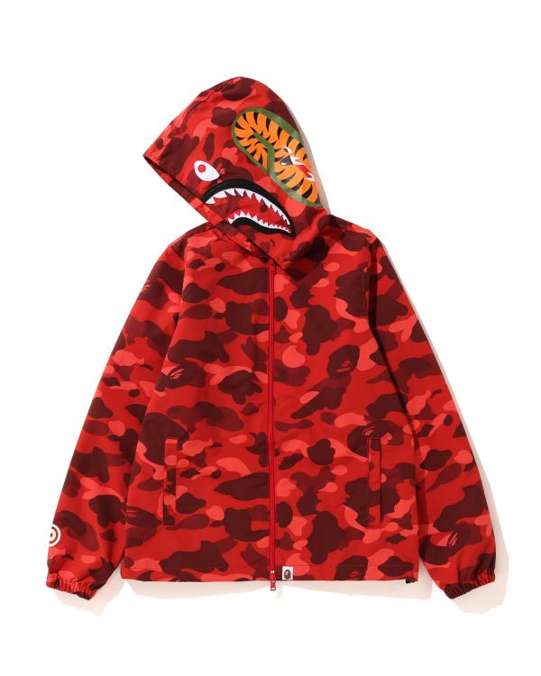 Color Camo Shark zip hoodie