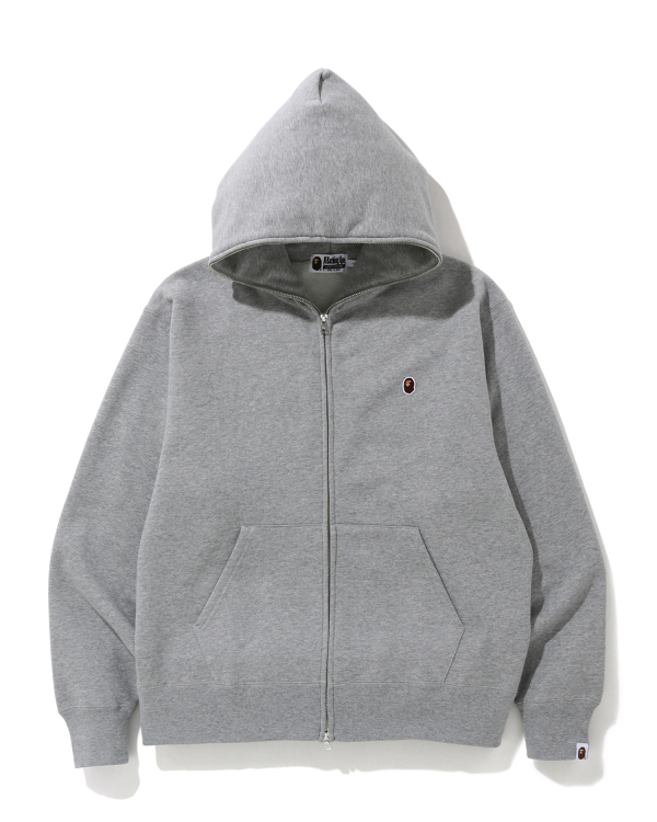Relaxed One Point zip hoodie