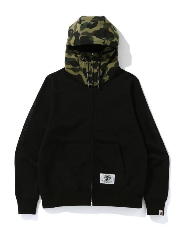 A Bathing Ape embroidery zip hoodie