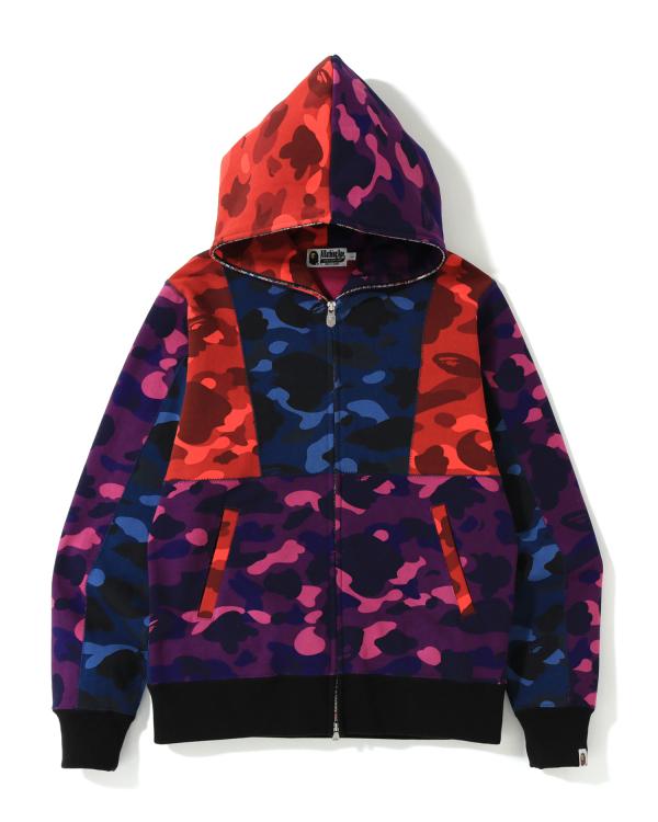 Crazy Color Camo Full zip hoodie