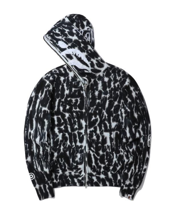 Tie Dye Shark wide full zip hoodie