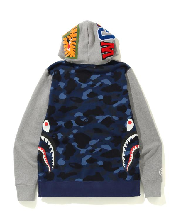 Side zip Shark hoodie
