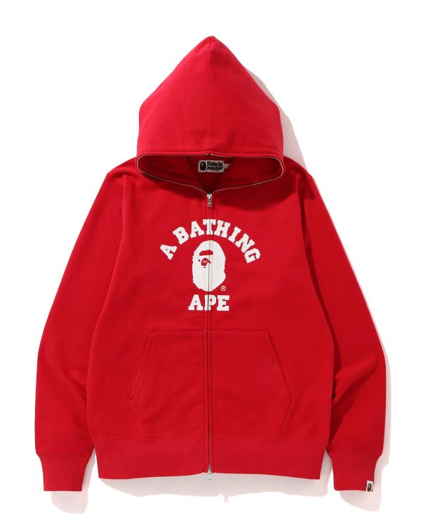 College full zip hoodie