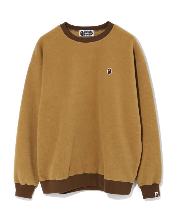 Fleece one point oversize sweatshirt