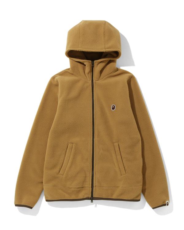 Fleece one point zip hoodie